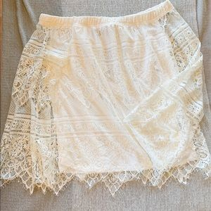 Lace Off The Shoulder Bell Sleeve Blouse